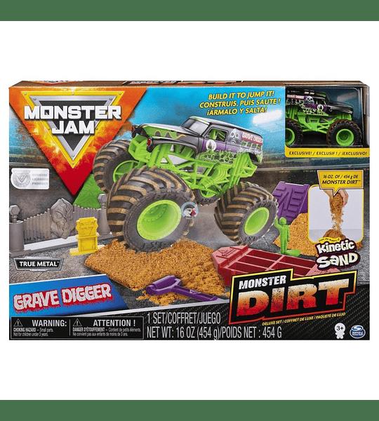 Monster Jam  - Grave Digger Monster Dirt Deluxe Set escala 1:64