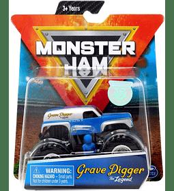 Monster Jam Grave Digger The Legend escala 1:64 con figura