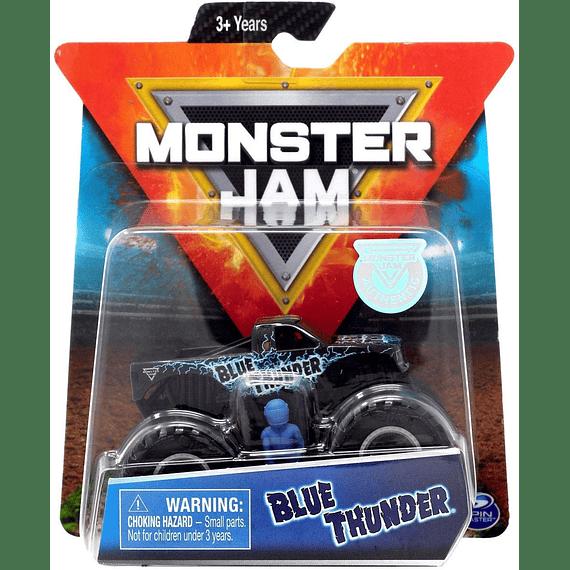 Monster Jam - Blue Thunder con figura escala 1:64