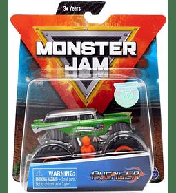 Monster Jam Avenger escala 1:64 con figura