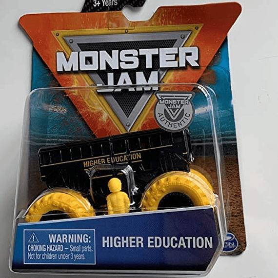 Monster Jam - Maqueta de monstruo con figura (escala 1:64), color negro y amarillo