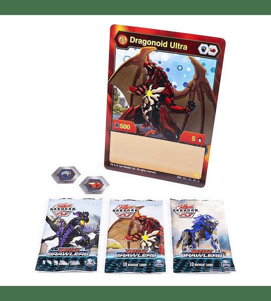Bakugan, colección de cartas de Lujo Battle Brawlers con lámina jumbo, Dragonoid