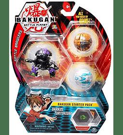 Bakugan Darkus Turtonium Starter Pack de 3 unidades