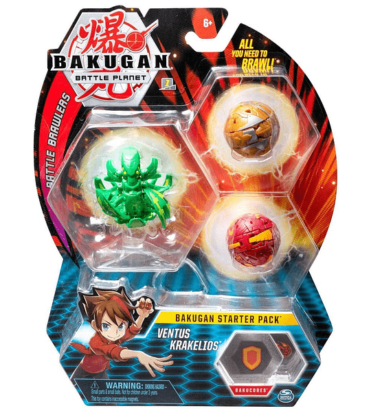 Bakugan Ventus Krakelios, Pack de 3 unidades