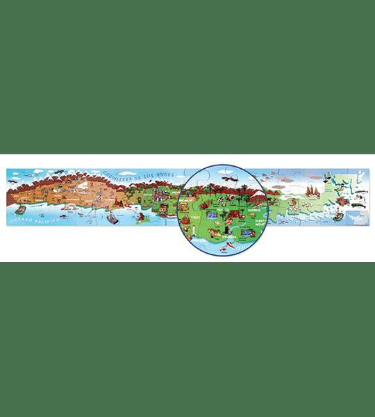 RompeCabeza Puzzle Gigante Mapa de Chile