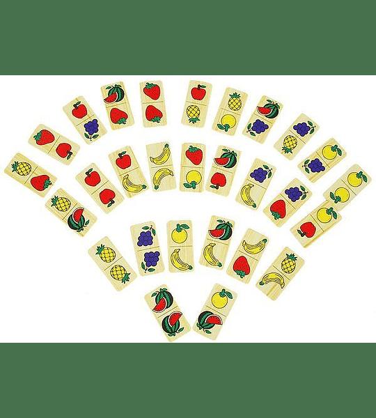 Dominó de Frutas, de Madera