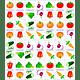 Domino de Vegetales Madera