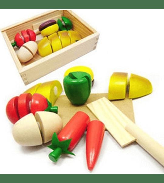 Set de Vegetales en Madera
