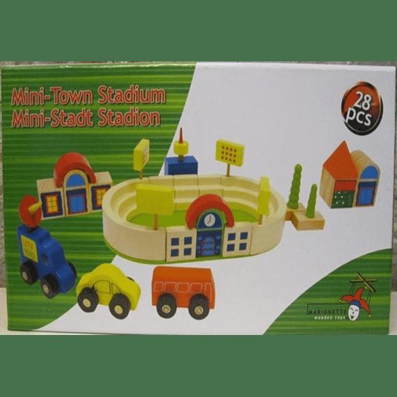 Estadio de Madera 28 piezas