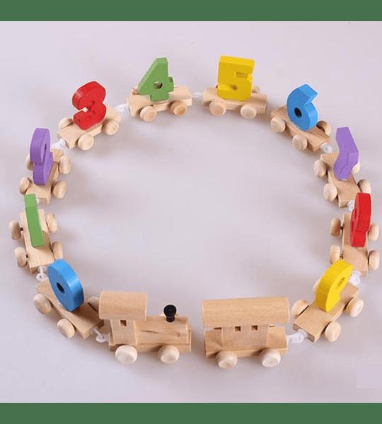 Tren de madera Númerico