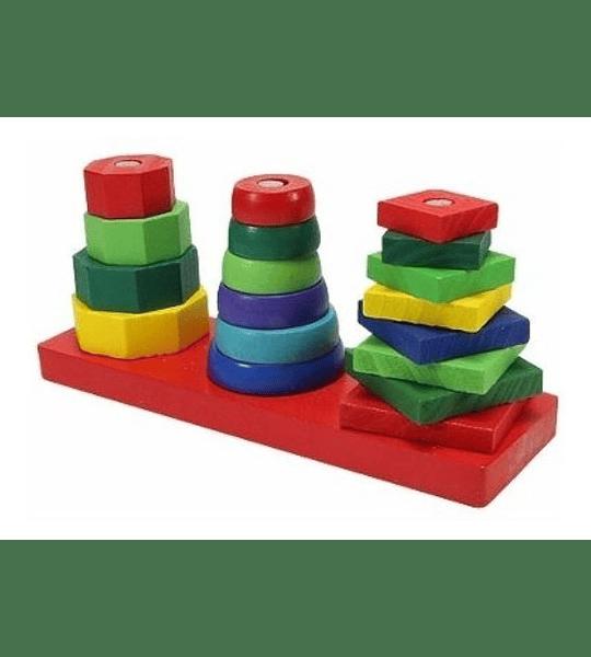 Torre Geométrica triple