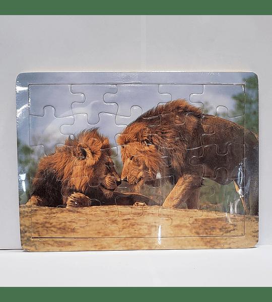 Rompecabeza de madera Leones