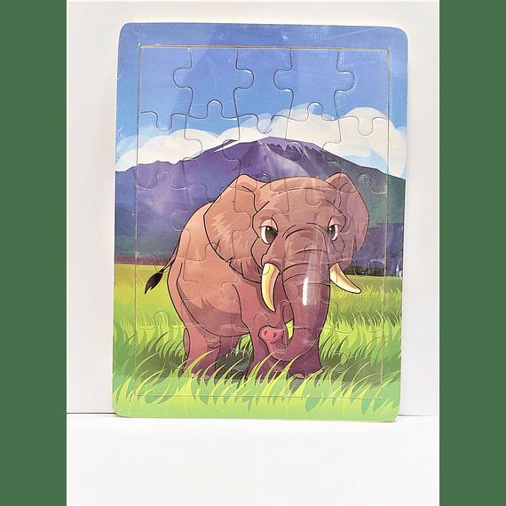 Rompecabeza de madera Elefante