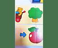 Puzzle de secuencias de madera