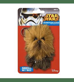 Chewbacca Llavero de peluche 11 cm con sonido Star Wars