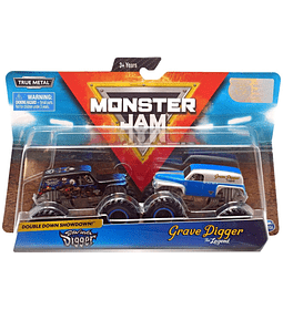 Monster Jam Son-Uva Digger Vs. Grave Digger escala 1:64