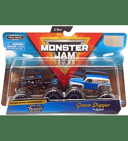 Monster Jam Son-Uva Digger Vs. Grave Digger escala 1:64