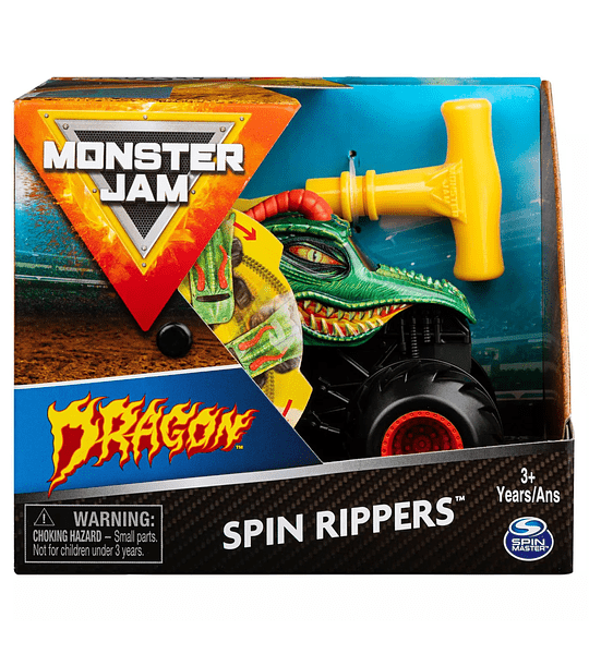 Monster Jam Spin Rippers Dragon Monster Truck 1:43 escala