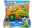 Paw Patrol Rocky Deluxe Vehicle Mighty Pups Super Paws vehículo de lujo con luces y sonidos