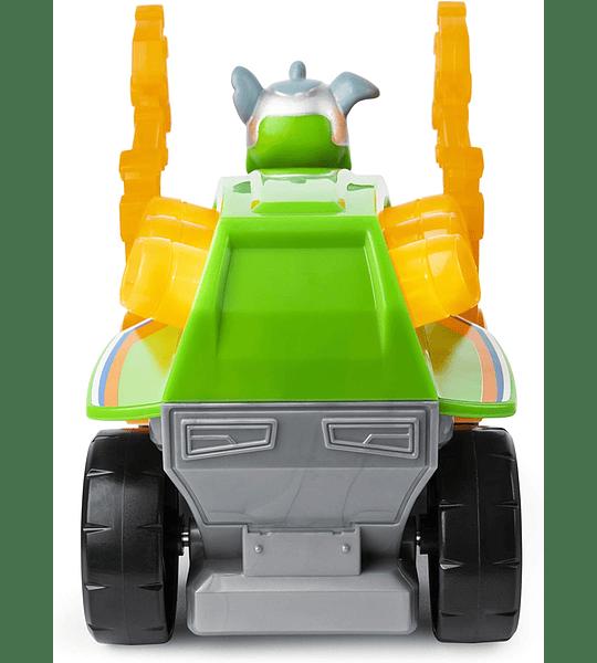 Paw Patrol Rocky Deluxe Vehicle Mighty Pups Super Paws vehículo de lujo con luces y sonidos