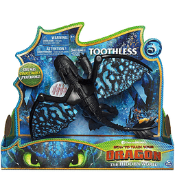 Dragons Toothless Dragons Deluxe con Luz y Sonido