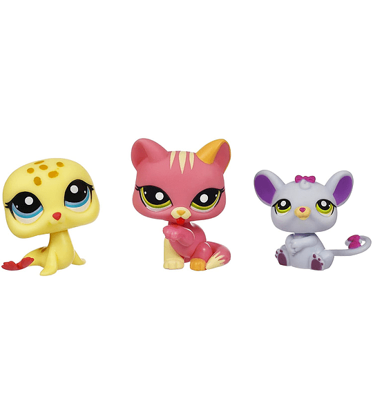 Littlest Pet Shop Pack de 3 #1560 #1561 #1563 Figuras de Colleccion