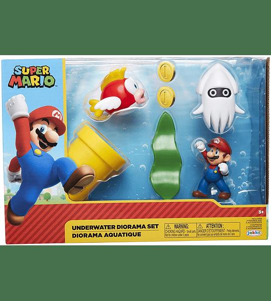 Super Mario Nintendo Underwater Diorama