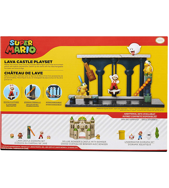 Super Mario Nintendo Lava Castle Deluxe Set de juego 7 Piesas