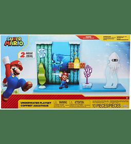 Super Mario juego submarino con ambientador interactivo