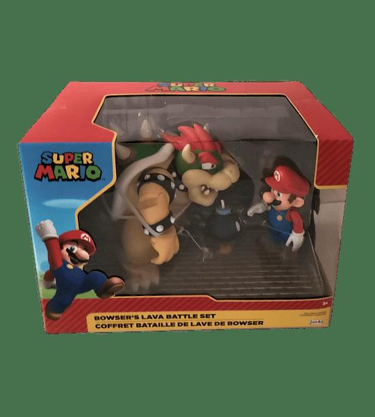Bowser Vs Mario Diorama Super Mario Pack 3 Figuras