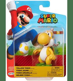 Yoshi Yellow Figura articulada con huevo color amarillo Super Mario