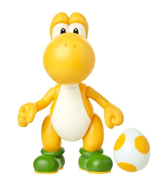 Yoshi Yellow Figura articulada con huevo color amarillo Super Mario