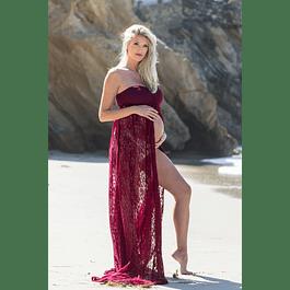 Vestido Playero Para Embarazada Tallas Plus Kadrihel