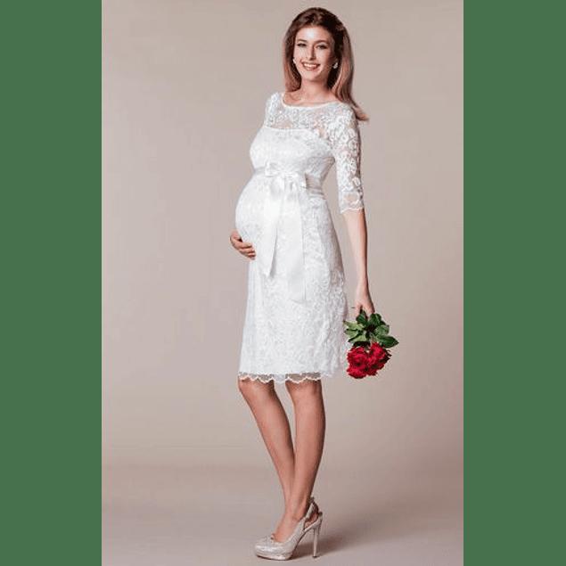 Vestido Ajustado Manga Larga para Embarazadas ideal para Matrimonio Tallas Plus Kadrihel
