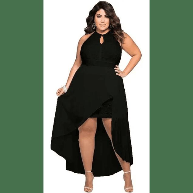 Vestido De Fiesta Casual Escote En Busto Tallas Plus Kadrihel