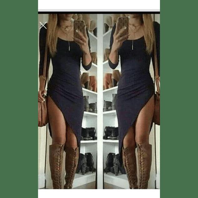 Vestido De Fiesta Corto Cuello Redondo Casual Tipo Coctel Kadrihel