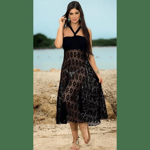 Vestido Playero De Encaje  Verano Salida De Playa Multiforma Talla Plus Kadrihel