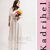 Vestido Largo con manga de encaje Ideal para Matrimonio Tallas Plus Kadrihel