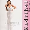 Vestido Largo Corte Sirena Todo De Encaje, Ideal Para Matrimonio Kadrihel. (No incluye cinturon)