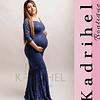 Vestido De embarazada Corte Sirena Todo De Encaje Kadrihel.