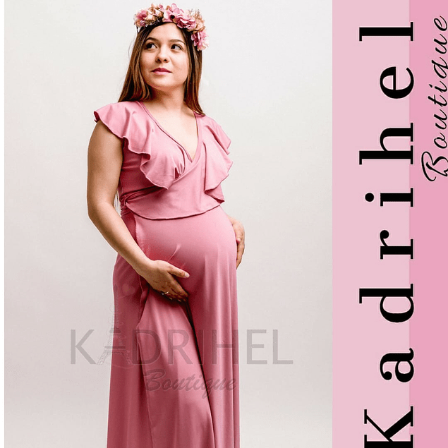 Vestido Largo De Embarazada Sin Mangas Kadrihel