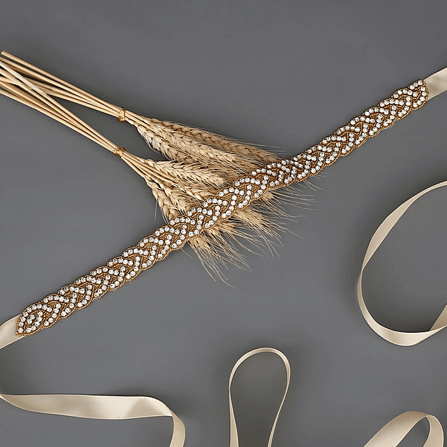 Bellos Cinturones Brillante Ideal Para Boda Matrimonio Gala largo de aplique 43 cm largo de cinto 2 metros Kadrihel