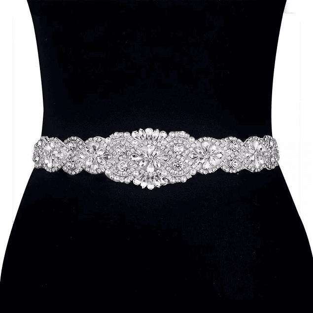 Bellos Cinturones Brillante Ideal Para Boda Matrimonio Gala largo de aplique 60 cm largo de cinto 2 metros Kadrihel