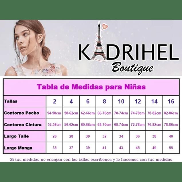 Vestido Largo de Niña Blusa De Encaje Sin Mangas Ideal Para Fiesta Bautizo Comunión  Kadrihel