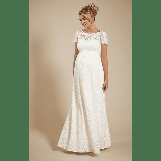 Vestido Largo De Embarazada Ideal Para Matrimonio Tallas Plus Kadrihel
