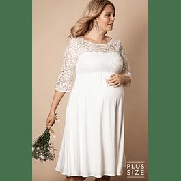 Vestido de Embarazada Ideal para Matrimonio Tallas Plus Kadrihel