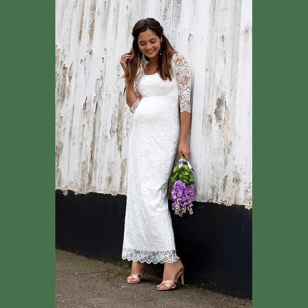 Vestido  de Embarazada  Largo Ideal para Matrimonio tallas Plus Kadrihel