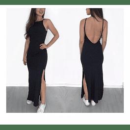 Vestido Ajustado Sin manga Escote en espalda y abertura en Pierna Tallas Plus Kadrihel