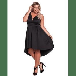 Vestido Asimetrico Sin Mangas Ideal para FIesta de Gala Tallas Plus Kadrihel