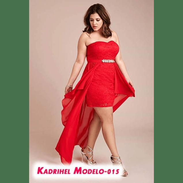Vestido Ajustado Straple con Cola Ideal para fiesta de Gala Tallas Plus Kadrihel (NO INCLUYE CINTURÓN)